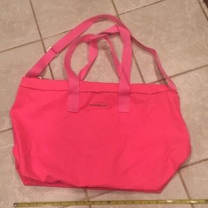 Victoria's Secret hot pink tote 23x24x10""
